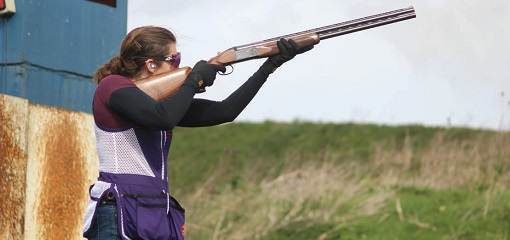 Faye Wills Clay Pigeon Shooting