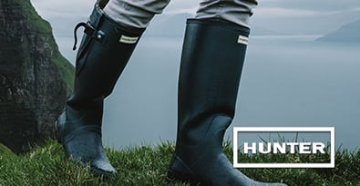 Hill Walking in Stylish Hunter Wellington Boots