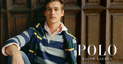Wearing Polo Ralph Lauren Striped Rugby Shirt & Green/Yellow Scarf