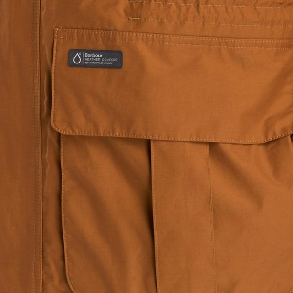 Barbour Ashton Jacket Lower Patch Pockets Tumeric