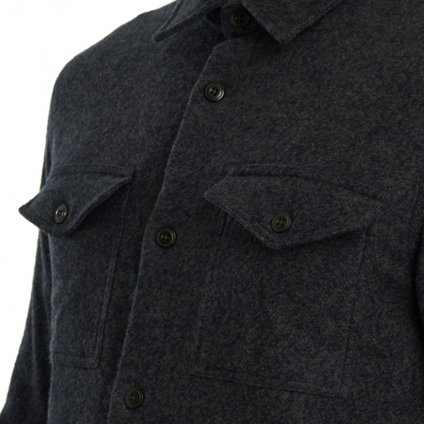 Barbour Brushed Twill Overshirt Forest