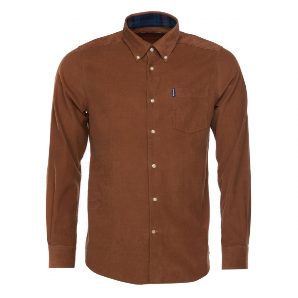 Barbour Cord 1 Tailored Fit Shirt Sandstone