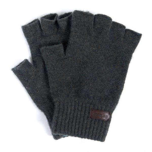 Barbour Edzell Fingerless Gloves Olive