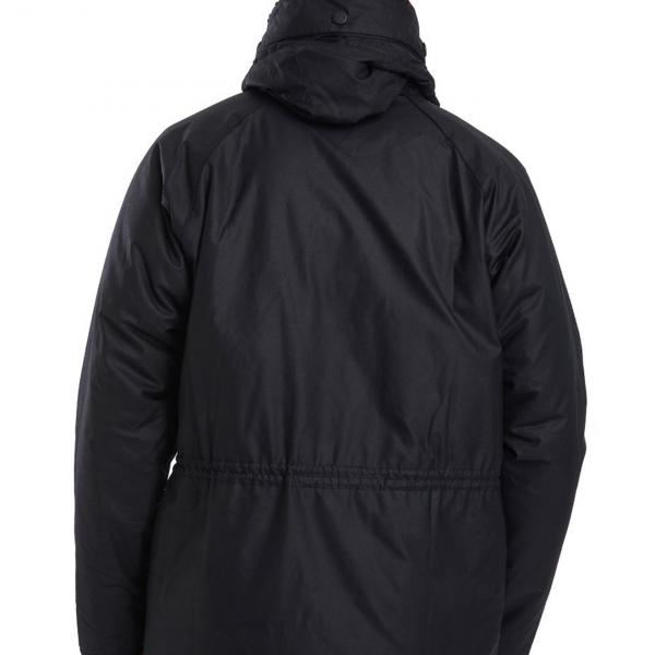 Barbour Fenton Wax Jacket Back Colour Black