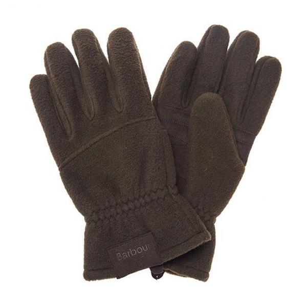 Barbour Fleece Gloves Olive