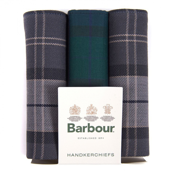 Barbour Handkerchief Pack Black Watch / Monochrome