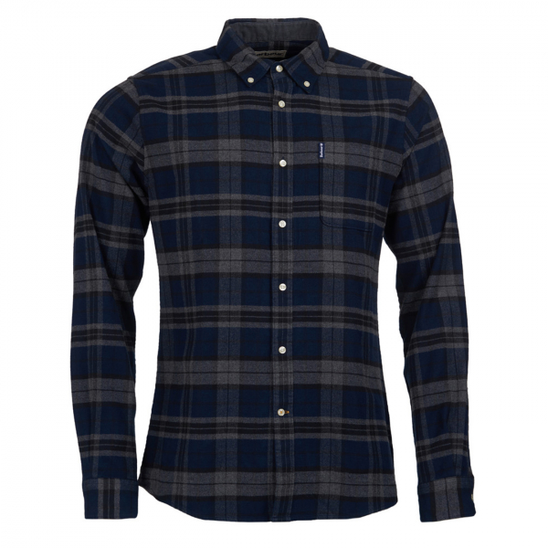 Barbour Highland Check 19 Tailored Fit Shirt Grey Marl