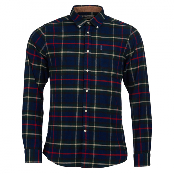 Barbour Highland Check 19 Tailored Fit Shirt Navy