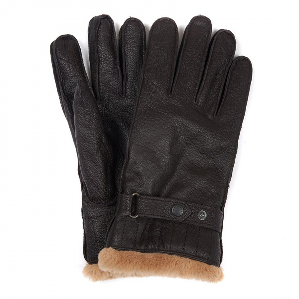 Barbour Leather Utility Glove Brown