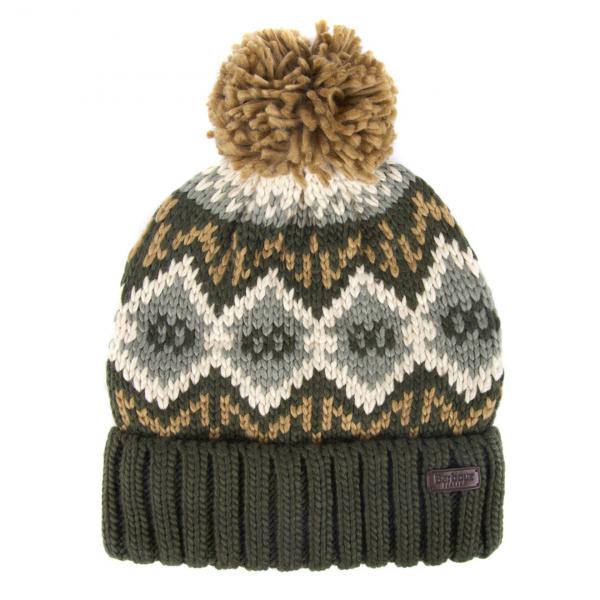 Barbour Malton Beanie Hat Forest