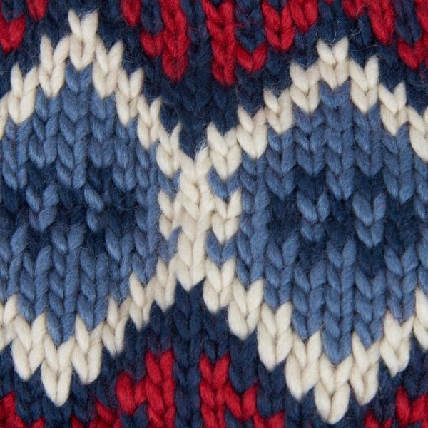 Barbour Malton Beanie Hat Navy / Red