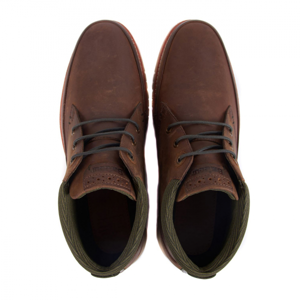Barbour Nelson Boot Lace Up Closure Choco