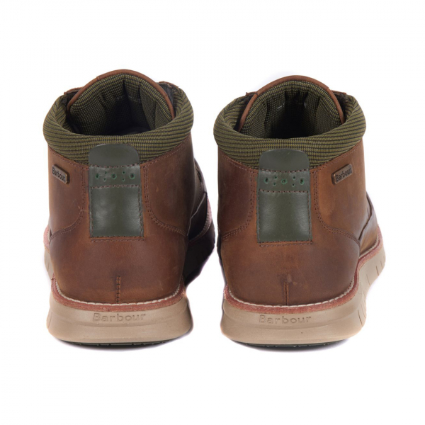 Barbour Nelson Boot Choco With Rear Contrast Panel