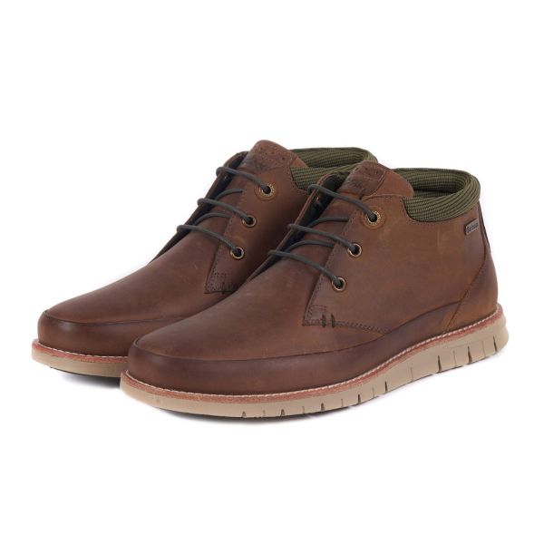 Barbour Nelson Boot Choco With Barbour Branding