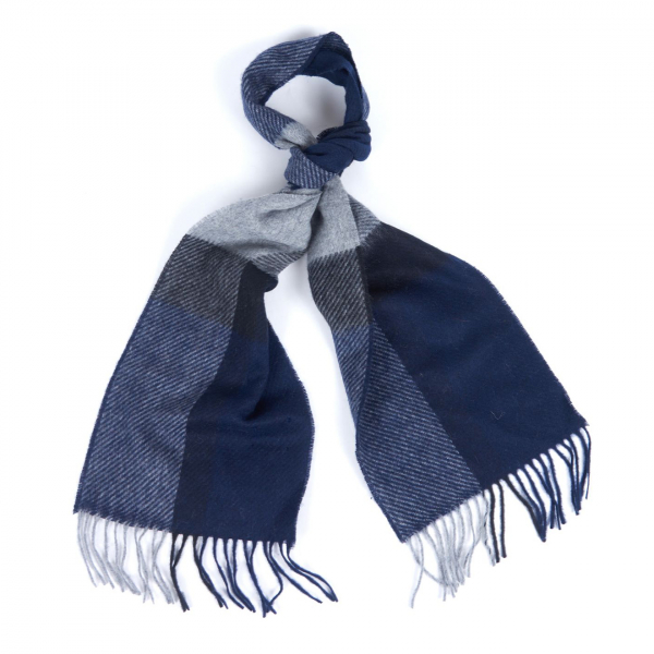 Barbour Oakwell Scarf Navy / Grey