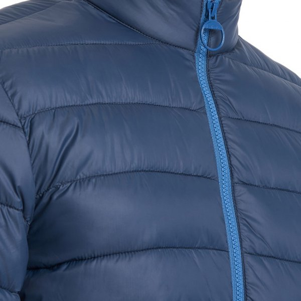 Barbour Penton Quilt Jacket Double Zip with Large Pull Ring Moody Blue