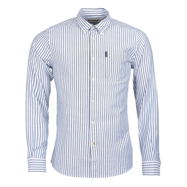 Barbour Stripe 6 Tailored Fit Shirt Forest