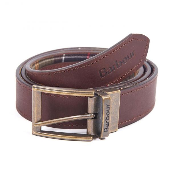Barbour Tartan Reversible Leather Belt Classic Tartan