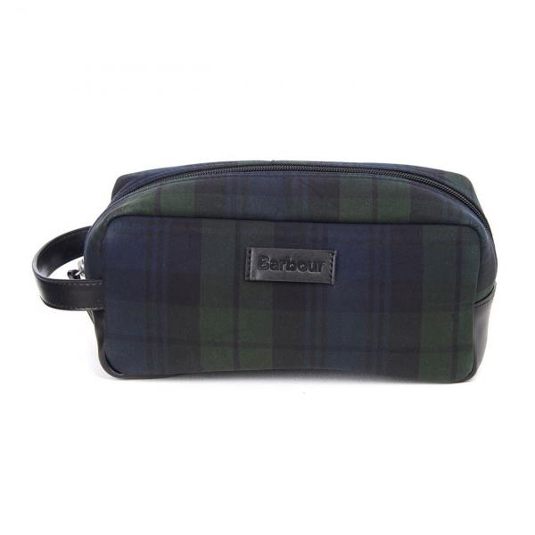 Barbour Tartan Wax Wash Bag Black Watch