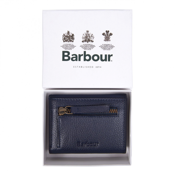 Barbour Womens Billfold Purse Navy