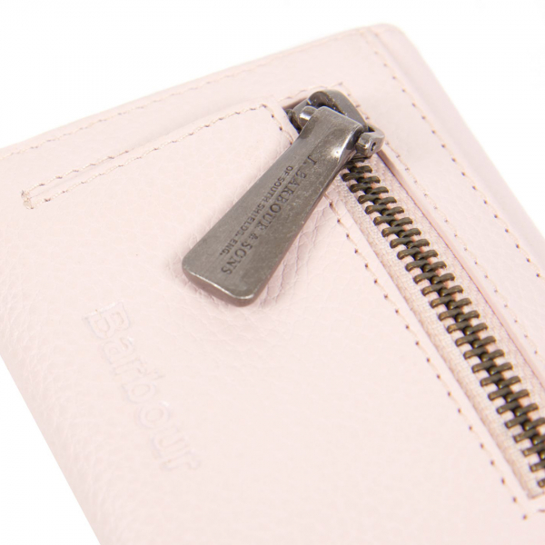 Barbour Womens Billfold Purse Zipped Coin Compartment Pink