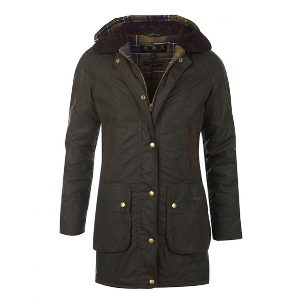 Barbour Womens Bower Wax Jacket Olive