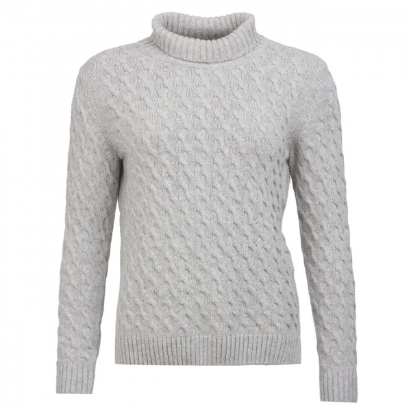 Barbour Womens Burne Knit Light Grey