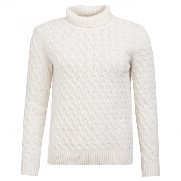 Barbour Womens Burne Knit Off White
