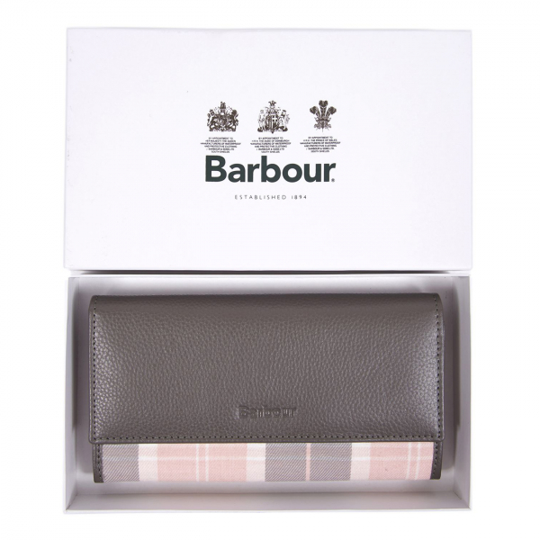Barbour Womens Convertible Wallet Grey