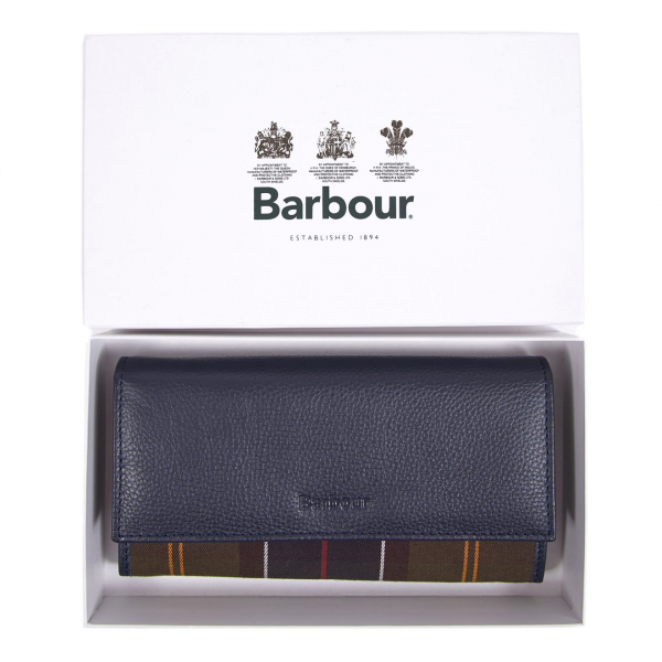 Barbour Womens Convertible Wallet Navy