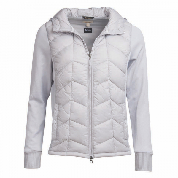 Barbour Womens Forecast Sweat Ice White