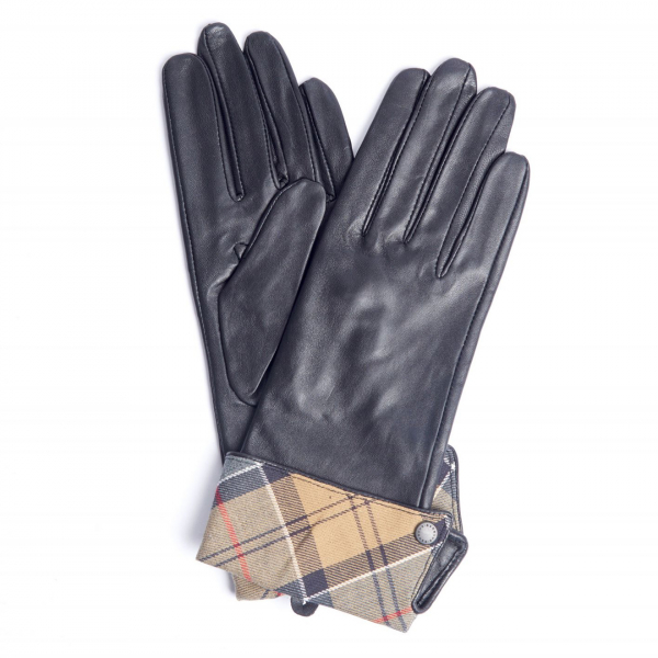 Barbour Womens Lady Jane Gloves Black / Dress Tartan