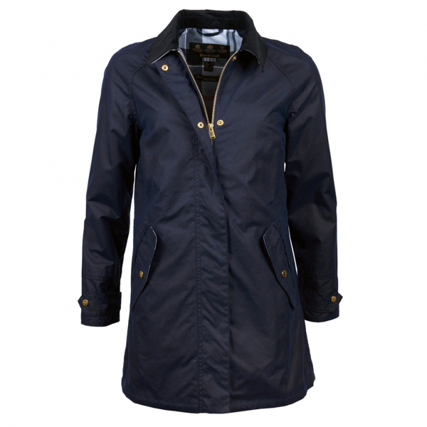 Barbour Womens Lowmond Wax Jacket Royal Navy