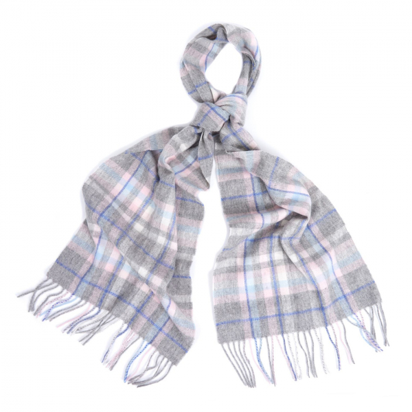 Barbour Womens Penshaw Scarf Grey / Pink
