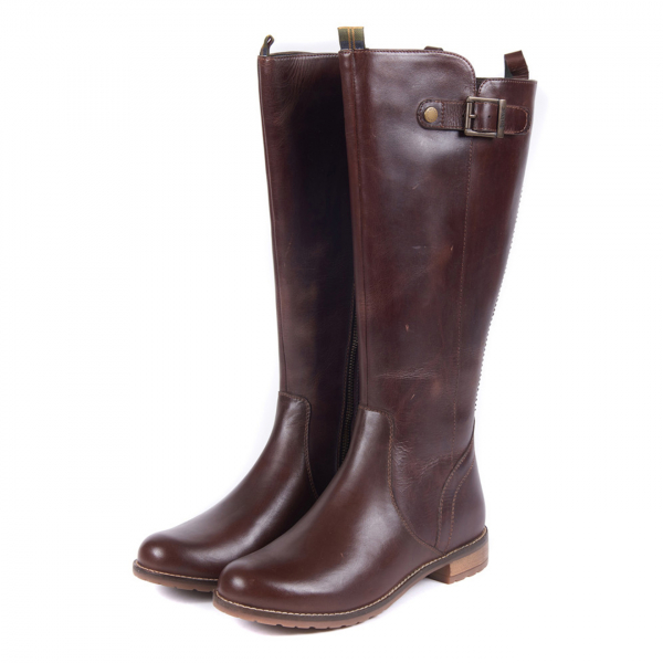 Barbour Womens Rebecca Boot Wine With Branded Buckle