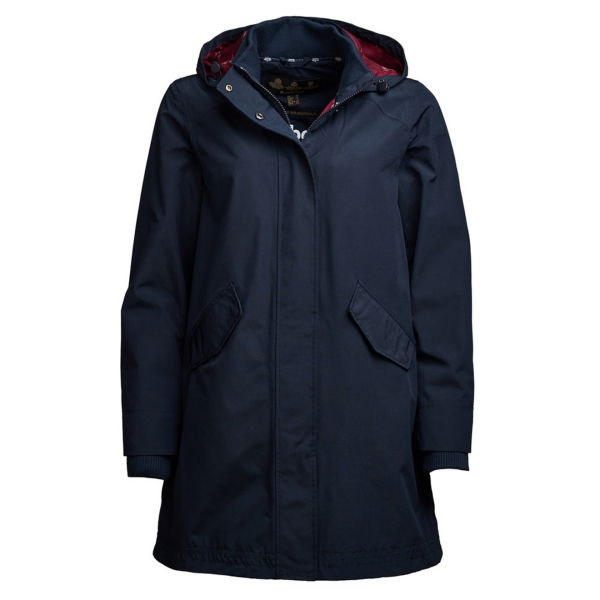 Barbour Womens Weatherly Jacket Navy / Deep Pink