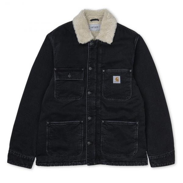 Carhartt Fairmount Coat Black Stone Washed
