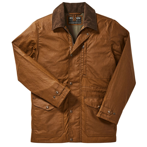 Filson Cover Cloth Mile Marker Coat Dark Earth