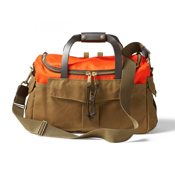 Filson Heritage Sportsman Bag Orange Dark Tan