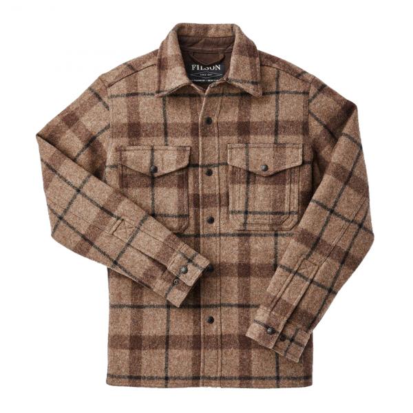 Filson Mackinaw Jac Shirt Taupe / Brown / Black Plaid