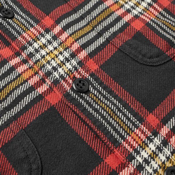 Filson Vintage Flannel Work Shirt Black / Red / Gold Plaid