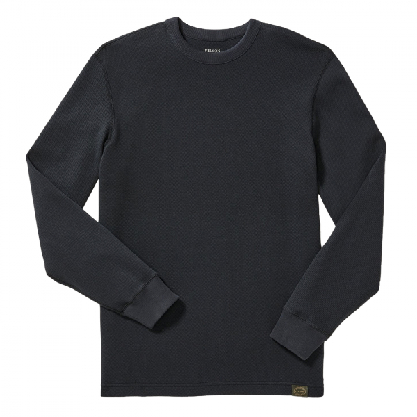 Filson Waffle Knit Thermal Crew Neck L/S Top Navy