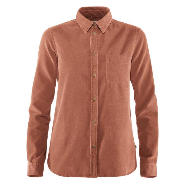Fjallraven Womens Ovik Cord Shirt Terracotta Pink