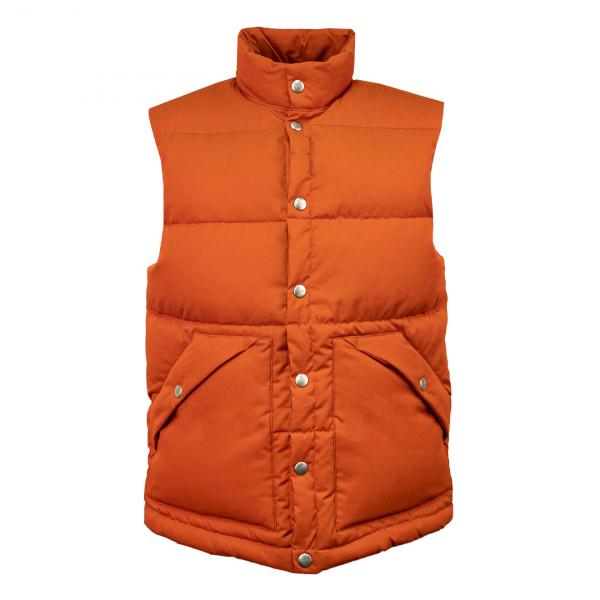 Holubar Deep Powder Vest Dark Orange
