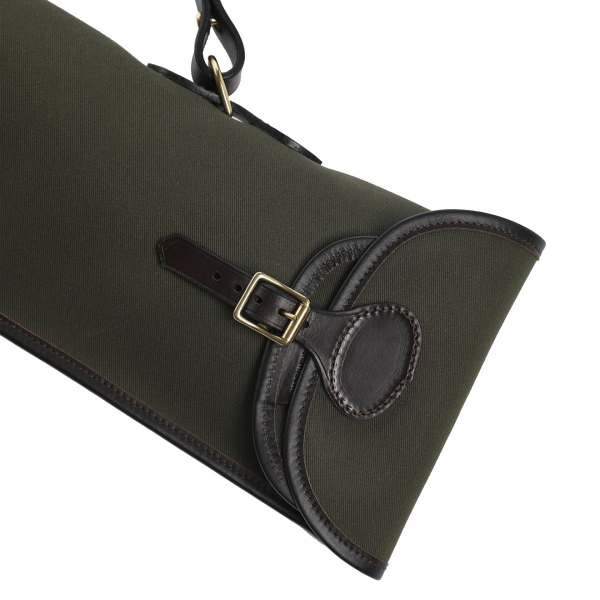 James Purdey Classic Canvas Travel Unlined Gun Cover Dark Olive