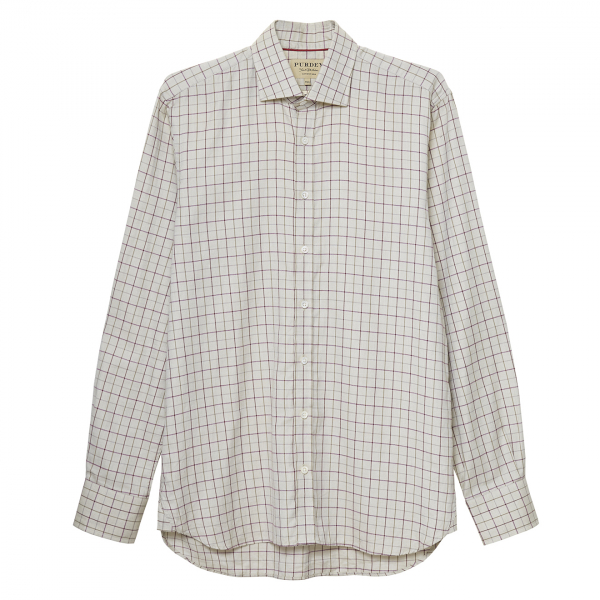 James Purdey Coloured Base Exploded Tattersall Shirt Pale Green
