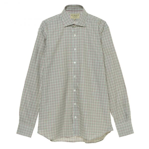 James Purdey McKenzie Check Shirt Sage Green