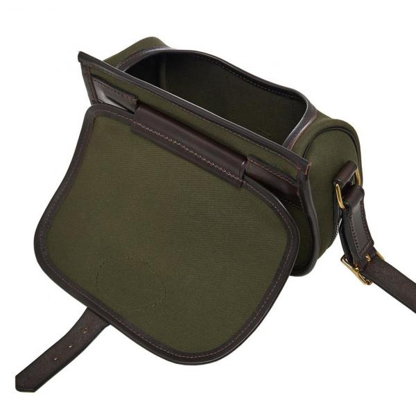 James Purdey Starburst Canvas Cartridge Bag Dark Olive