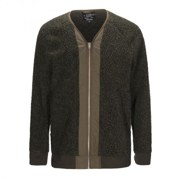 Nigel Cabourn x Peak Performance V-Neck Liner Fleece Army Green