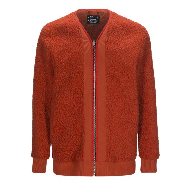 Nigel Cabourn x Peak Performance V-Neck Liner Fleece Survival Orange
